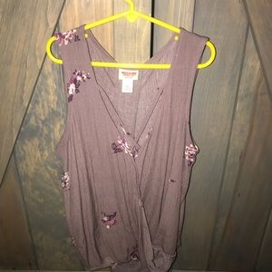 Purple and floral tank. Size Small